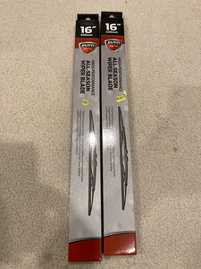 "2-Pack AutoDrive Windshield Wiper Blade 16"" Universal"