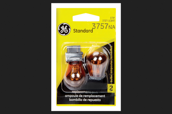Turn Signal Light Bulb-Standard Lamp Twin Blister Pack GE LIGHTING 3757NA/BP2