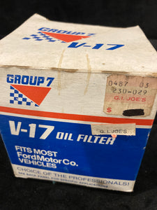 Engine Oil Filter Group 7 V17 Napa 1084
