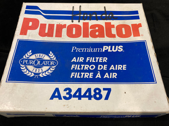 Purolator A34487 Engine Air Filter 1988-1991 Honda Civic & CRX 1.5L 1.6L-L4