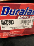 Duralast MKD803 Brake Pads New Open Box