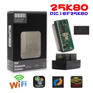 2019 New ELM 327 And Super Mini ELM327 WIFI Scanner V1.5 OBD2 Interface with PIC18F25K80 diagnostic Scan Tool for PC IOS Android