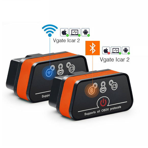 Vgate iCar2 Bluetooth/Wifi OBD2 Scanner for Android/PC/IOS elm327 OBD 2 Car Diagnostics Autoscanner ELM 327 OBDII Code Reader