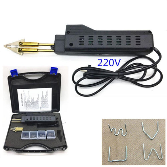 220-250V Hot Stapler Car Bumper Plastic Welding Torch Fairing Auto Body Tool Welder Machine 0.6/0.8mm + 4 box Welding Staples