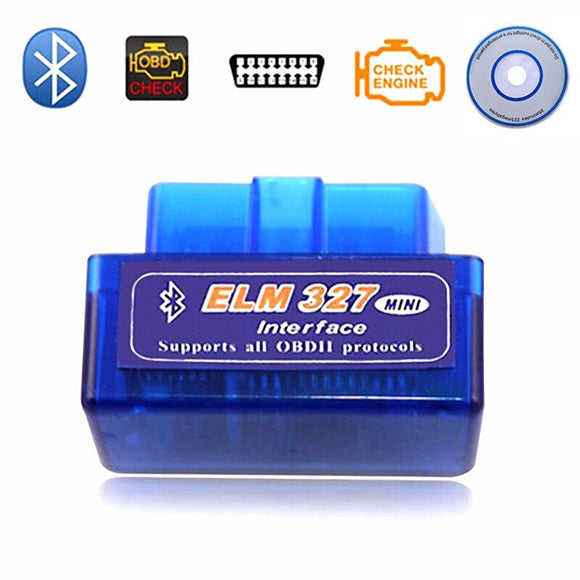 Elm327 Bluetooth OBD2/OBDII V1.5 Diagnostic Tool Scanner ELM 327 V 1.5 Car Diagnostic-Tool For Android Adapter Dropshipping