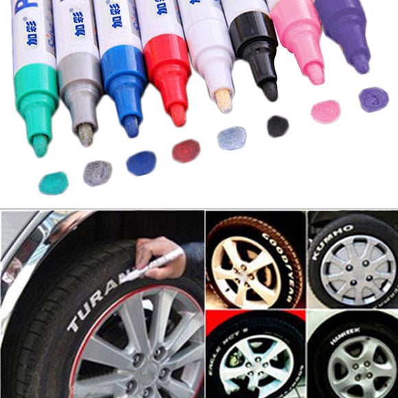 Car Tire Tread Permanent Paint Marker Pen Colorful Waterproof Fill Paint Pen Metal Outdoor Marking Ink Marker