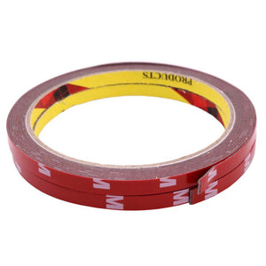 Car tape 1 pcs 3m Car decoration black double-sided tape Width 6-8mm Suitable for car modification Car stickers Double Tape