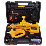 E-HEELP 12V 3 in 1 Car Electric Jack Lifting Set Built-in Flash LED Light with Impact Wrench & Air pump Car Jacks A02