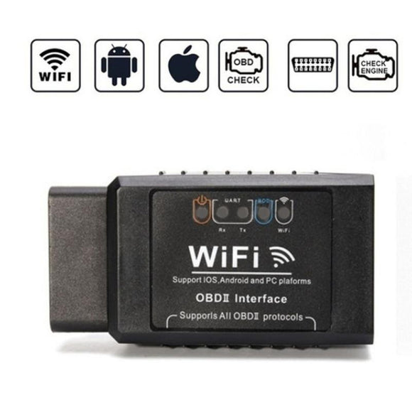 Mini OBD 2 ODB II ELM 327 WIFI ODB2 Car Scanner Detector Code Reader Diagnostic Tool Repair Car Kit Support Android Ios System