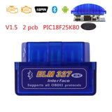 ELM327 V1.5 PIC18F25K80 Bluetooth OBD Scanner Diagnostic Tool Mini ELM 327 V1.5 OBD2 Car Code Reader for Android/Symbian OBDII