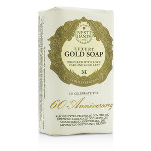 60 Anniversary Luxury Gold Soap With Gold Leaf (Limited Edition) - 250g-8.8oz - buybeautybrands