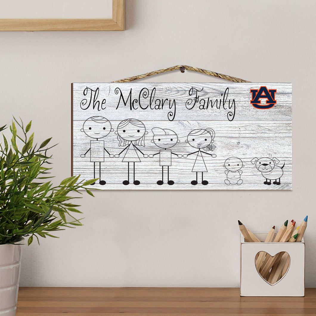Fansticks Family Personalized NCAA Sign
