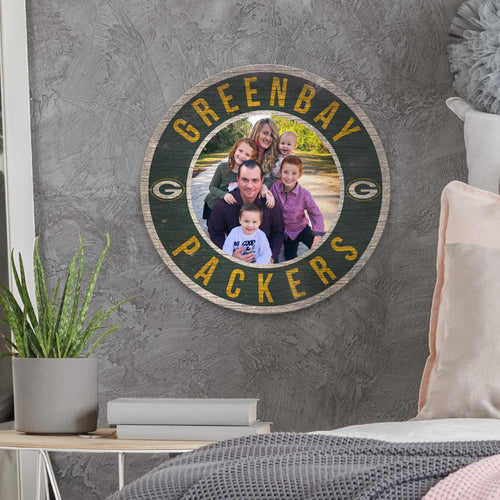Picture Circle Personalized NFL Sign