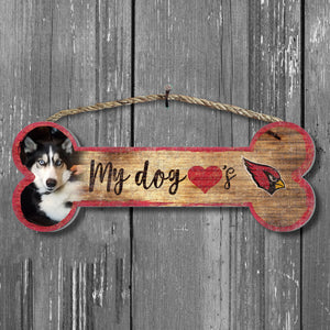 Dog Bone Photo Personalized NFL Sign