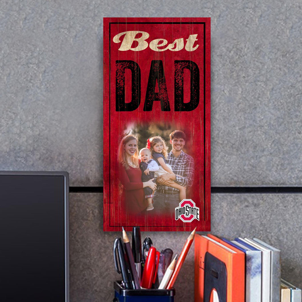 Best Dad Photo Personalized NCAA Sign