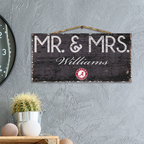 Mr & Mrs Personalized NCAA Sign