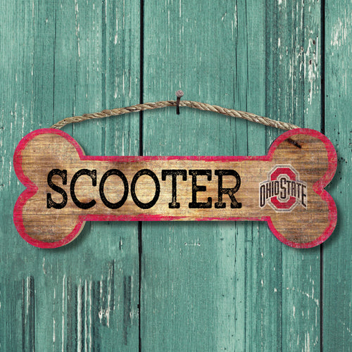 Personalized NCAA Dog Bone Sign