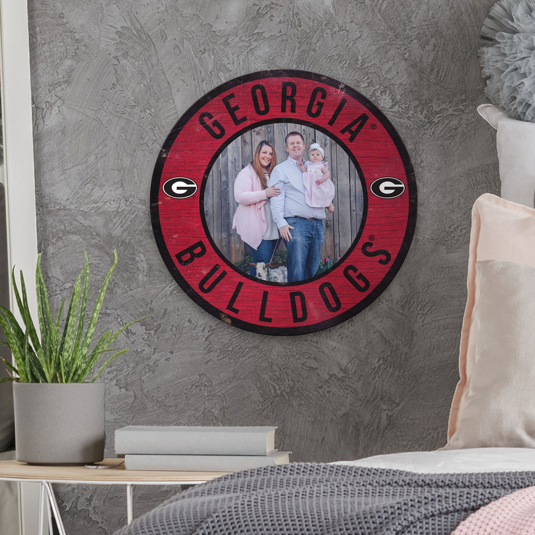 Picture Circle Personalized NCAA Sign
