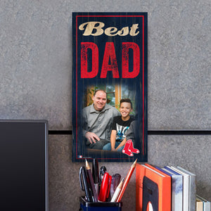 Best Dad Photo Personalized MLB Sign