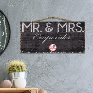 Mr & Mrs Personalized MLB Sign