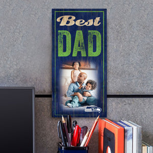 Best Dad Photo Personalized NFL Sign