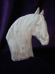 Thoroughbred Horse Bust Ready to Paint Ceramic Bisque