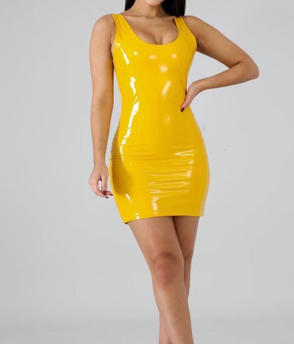 Yellow Liquid dress