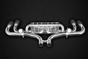 Exhaust system, middle silencer replacement pipes, E2P, without tailpipes (for OEM tailpipes)