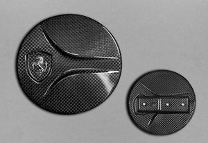 Exterior mirror housing set (right and left mirror housing), full carbon