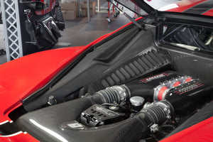 Ferrari 458 Italia/Speciale - Carbon Side Engine Compartment Covers Exhaust System