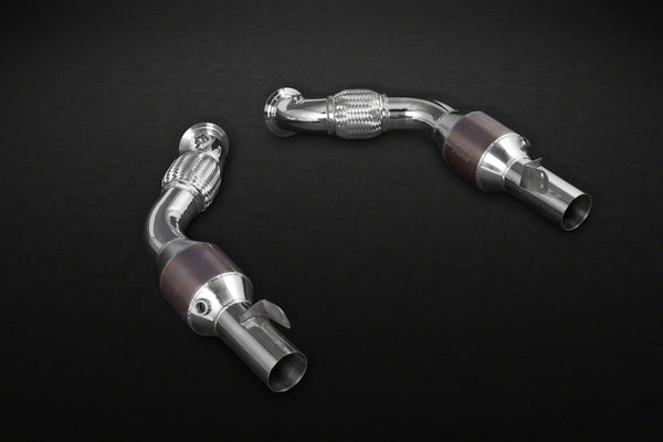 Ferrari 488 GTB & GTS - Twin-Flow Sport Cats with Heat Blankets Exhaust System