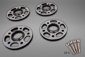 Ferrari 488 – Wheel Spacers 11mm Front / 17mm Rear (Circle Shape) with Titanium Wheel Bolts