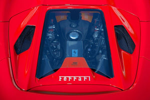 Ferrari 488GTS/Pista/F8 Spider – Carbon and Glass Bonnet (Design S)