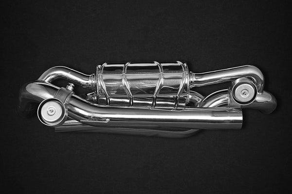 Porsche 992 Carrera/S – Valved ECE Exhaust Muffler for OEM Cats (CES3) Exhaust System