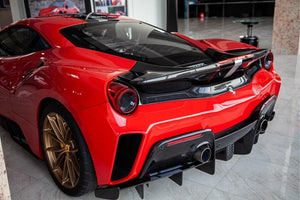 Rear bumper in carbon fiber incl. Carbon top for Pista Coupé and Spyder