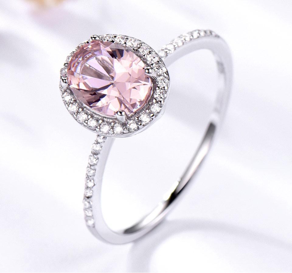 Baby Pink & Blue 925 Sterling Silver Ring - The KOKO Glam