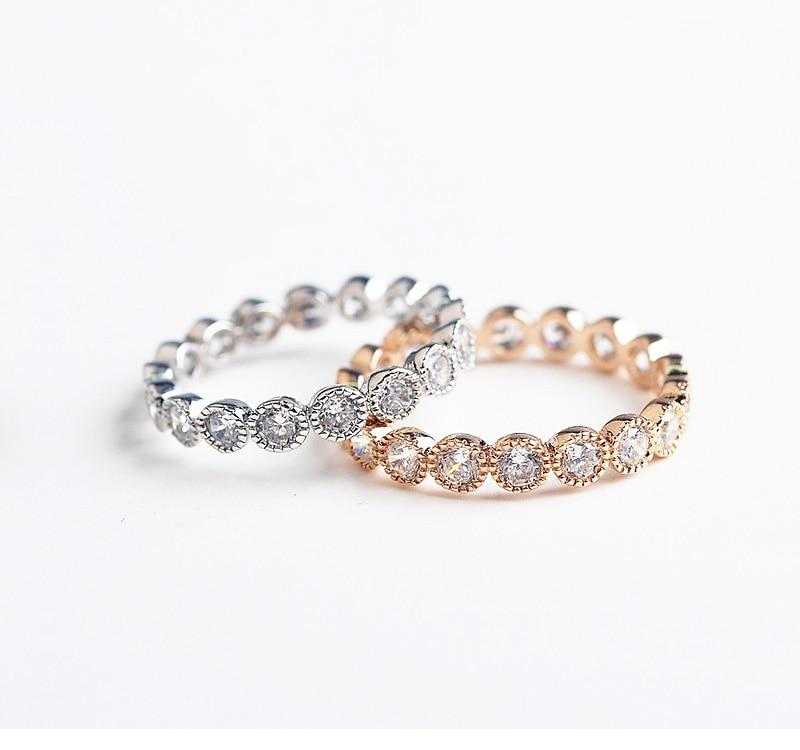 Rose Gold/Silver Stone Ring - The KOKO Glam