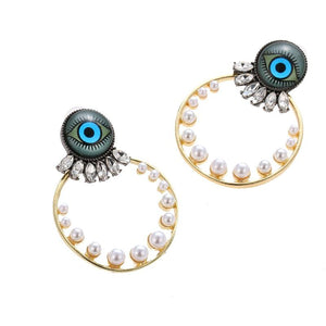 Evil Eyes Trendy Fashion Earrings - The KOKO Glam