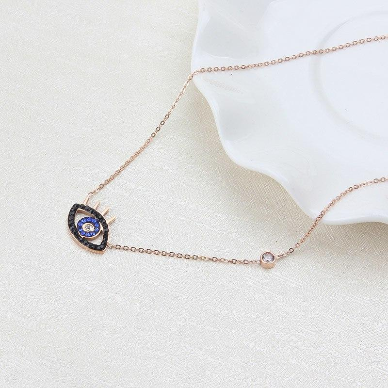 Stainless Steel gold evil eye necklace- - The KOKO Glam