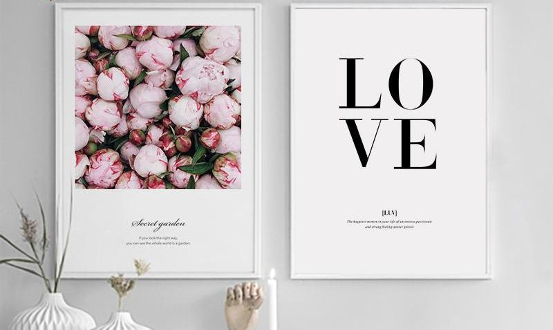 Flower Wall Pictures For Living Room, - The KOKO Glam