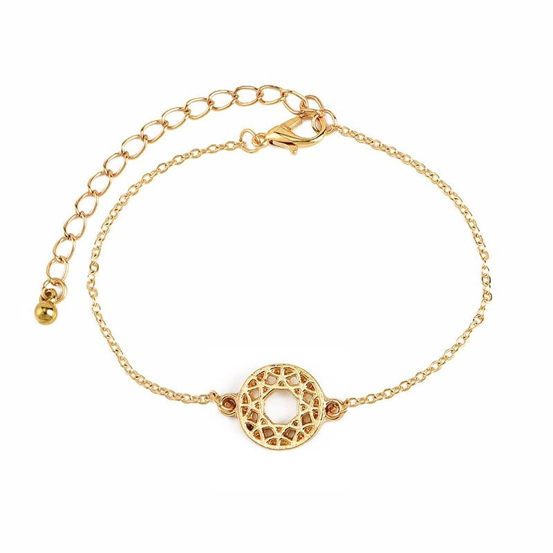 4 Pcs/ Set Bohemian Leaves Knot Round Chain Opening Gold Bracelet Set - The KOKO Glam