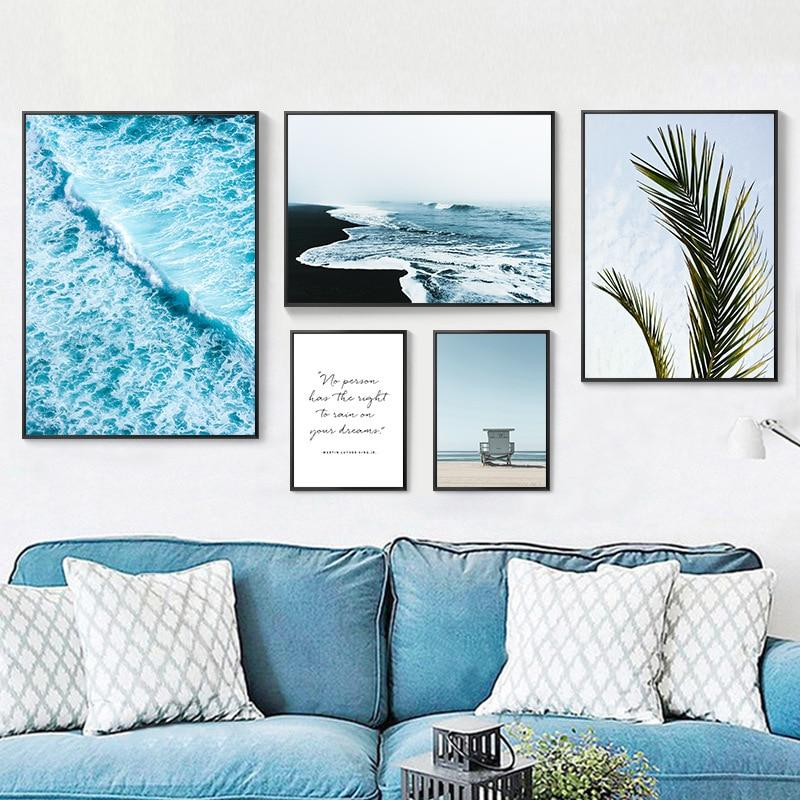 Tropical Palm Leaves Canvas - The KOKO Glam