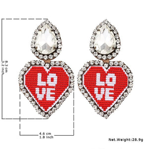 WTF Heart Leather Clip Earrings - The KOKO Glam