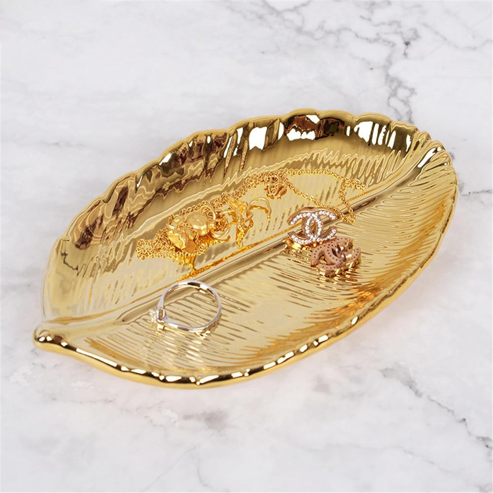 Ceramics Gold Plate  Leaves - The KOKO Glam