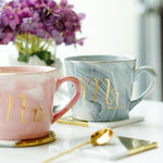 LIMITED EDITION -  Gold Monogram Natural Marble Porcelain Coffee Mug - The KOKO Glam