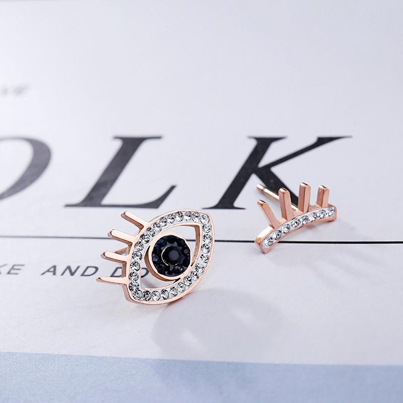Stainless Steel Evil Eye Stud Earring - The KOKO Glam