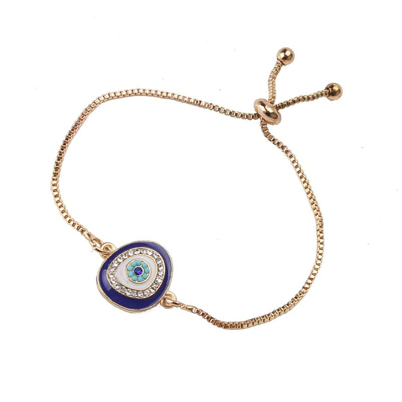 gold/sliver heart blue evil eye bracelet charm - The KOKO Glam