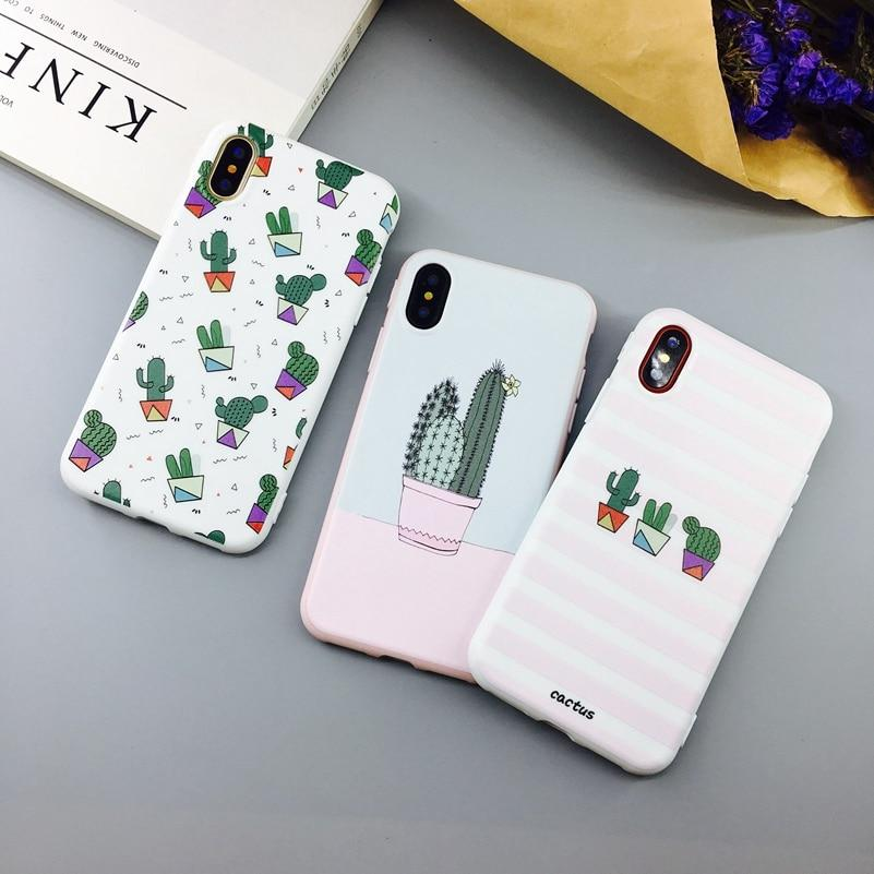 Candy Color Cactus Plants Fashion Silicon Cover - The KOKO Glam