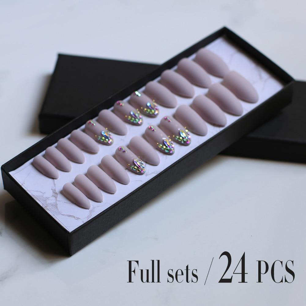 24PCS Boxed Matte stiletto nails false nail DIY 3d shiny press on nails - The KOKO Glam