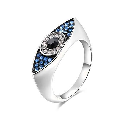 Blue Evil Eyes Rings for Women - The KOKO Glam